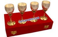 Wedding Handicraft Silver Wine Glass
