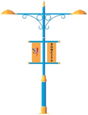 Light Pole Mounting Banner