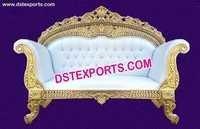 Gold Royal Luxury Wedding Carved Sofa