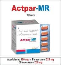 Aceclofencec 100 +Paracetamol 325 + Chlozoxazone 250