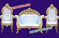 Wedding Heavy Carved Brass Metal Sofa Set