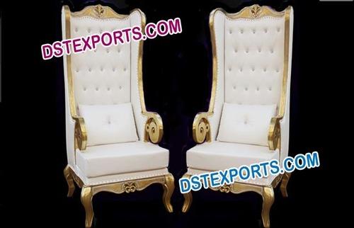 Wedding Brass Metal Big Boss Chairs