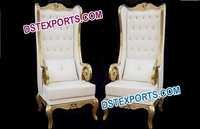 Wedding Brass Metal Big Boss Chairs