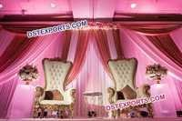 Wedding Bollywood Throne Chairs