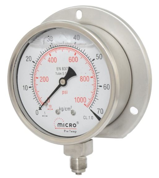 Industrial Heavy Duty Liquid Filled Pressure Gauge