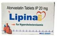Atorvastain tablets ip 20 mg
