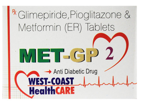 Glimepiride, Pioglitazone & Metformin (ER) Tablets