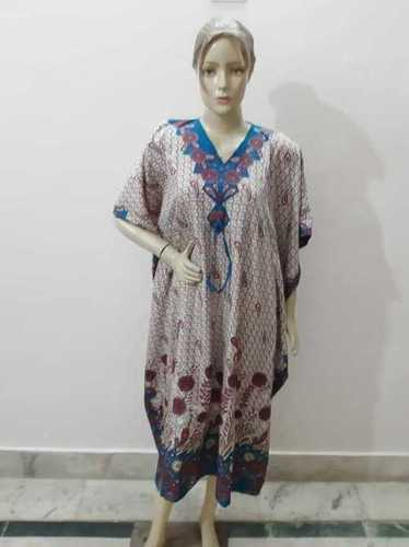 Viscous printed kaftan