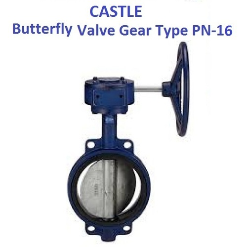 CASTLE C.F. 8/SS 304 DISC BUTTERFLY VALVE (GEAR TYPE) PN-16