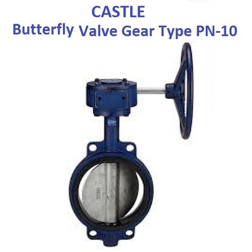 CASTLE S.G.IRON DISC BUTTERFLY VALVE (GEAR TYPE)