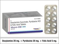 Doxylamine 20mg +Pyridoxine 20mg + Folic 5 mg