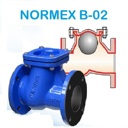Normex B-02 rubber Lined Ball Check Valve