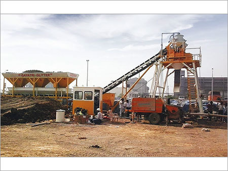 Inline Three Bin Hopper Concrete Batching Plant