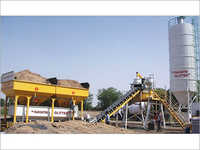 Cross Bin Hopper Concrete Batching Plant