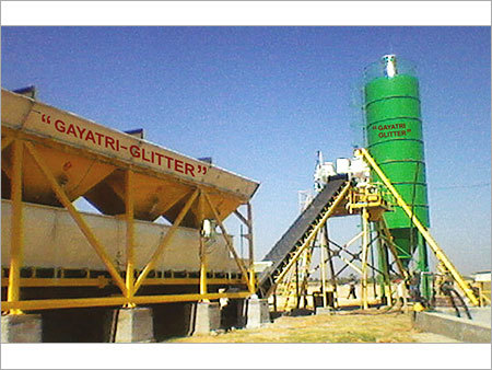 Four Bin Hopper Concrete Batching Plant