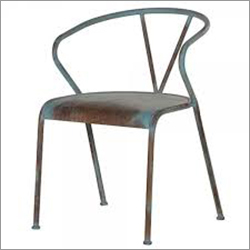 Industrial Distressed Blue Re-Engineered Iron Chair