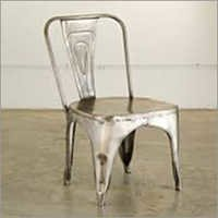 Distressed Finish Metal Chair