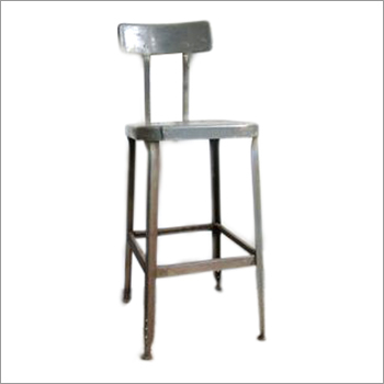 Industrial Bar Stool Rustic Finish