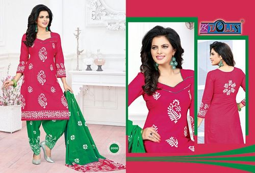 Bk Dolly Cotton Printed Dress Material