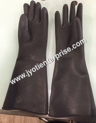 Black long  Rubber Hand Gloves