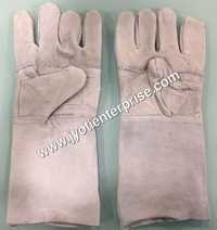Leather welding hand gloves