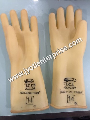 ICI quality rubber hand gloves