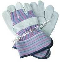 split leather canadian safety cuff hand gloves