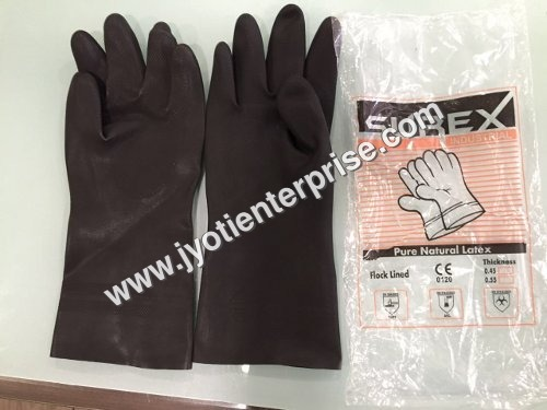 Surex Black Rubber Hand Gloves