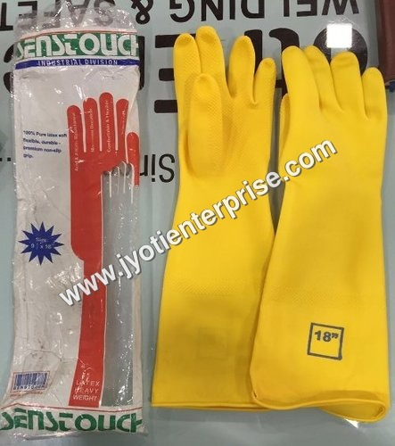 Black Rubber safety Gloves
