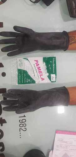 Pamela Black Household Rubber Safety Gloves