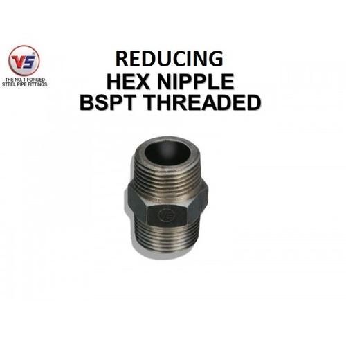 Vs Forged Steel Reducing Hex Nipple Black