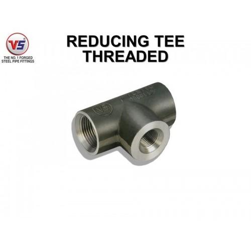 Vs Forged Steel Reducing Tee Equal Od Black