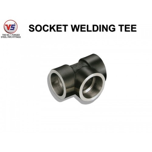 Vs Forged Steel Tee Sw 3000 Psi Black