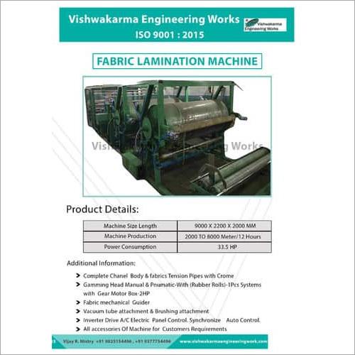 Fabric Lamination Machine