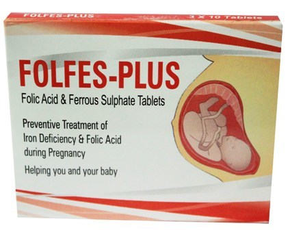 Folic Acid & Rerrous Sulphate Tablets