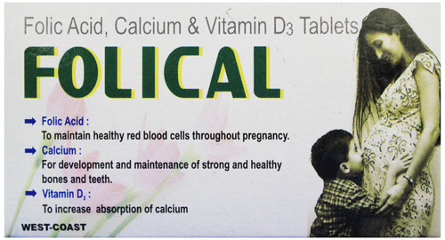Folic Acid, Calcium & Vitamin D3 Tablets