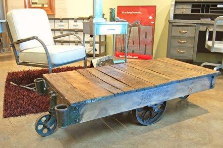 Reclaimed Wood Industrial Coffee Table
