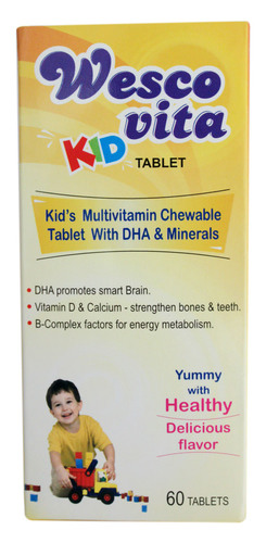 Kid's Multivitamin Tablet With Dha & Minerals