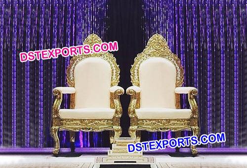 Indian Wedding Reception Throne Chairs