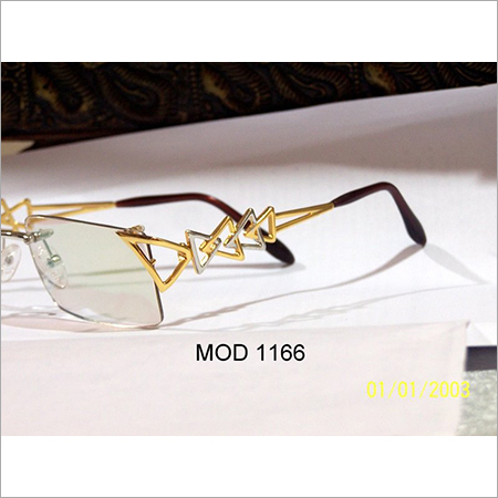 Designer Gold Spectacle Frame