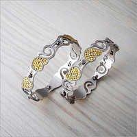 Silver CNC Bangles
