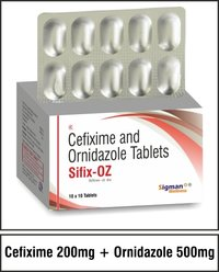 Cefixime 200 mg + Ornidazole 500 mg