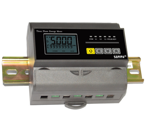 GQ-12 Three Phase Railing Mounting Energy Meter