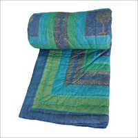 Jaipuri Ethnic Print Blue Single Bed Quilt