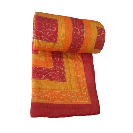 Yellow Colour Single Bed Quilt