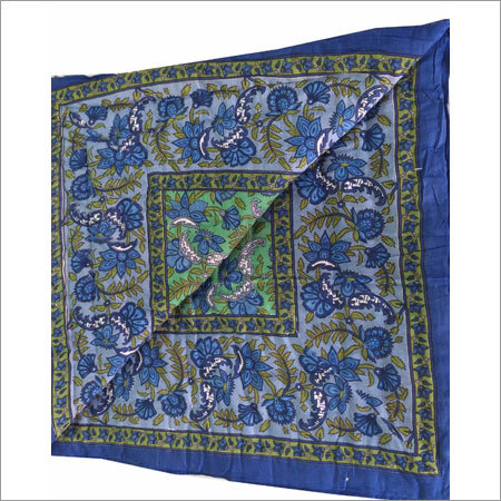 Blue Printed Single Bed Quilt