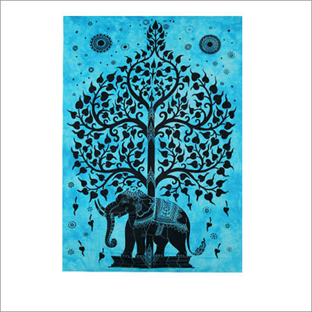 Tree  with  Elephant Tapestry