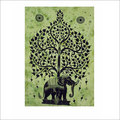 Elephant with Tree Tapestry