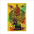 Elephant with Tree multi Tapestry