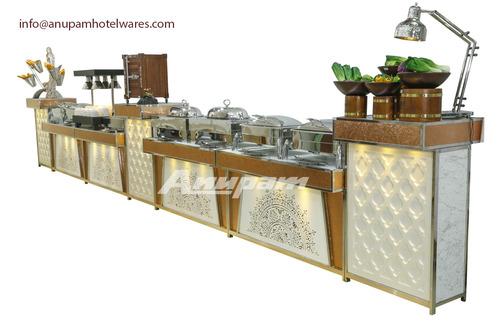 Buffet Counter - Copper, Rose Gold & Lighting